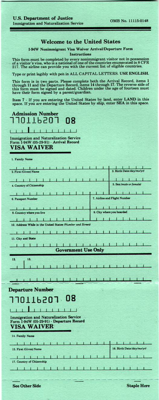 visa waiver: